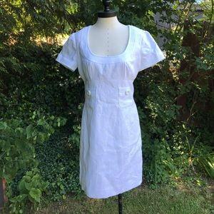 Trina Turk White Textured Dress